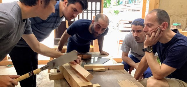 Japanese woodworking one month course